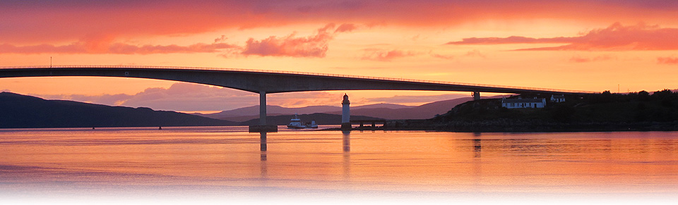 Skye Bridge, Sunset