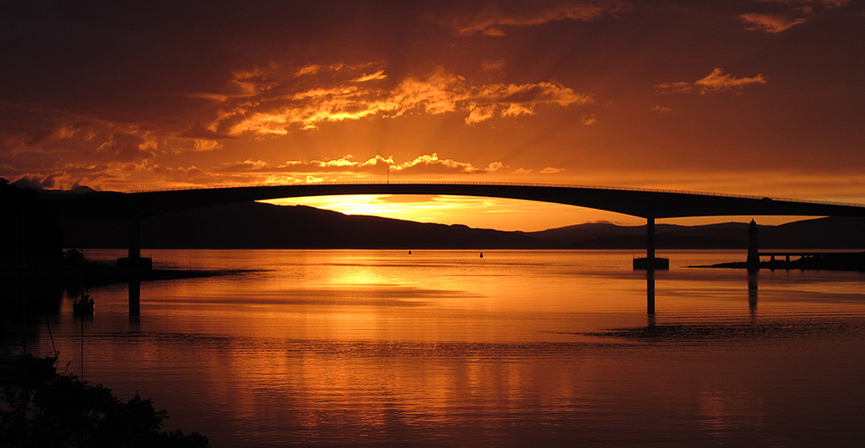 Skye Bridge at sunset
